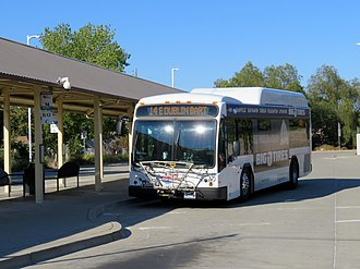 WHEELS (California) - A WHEELS bus at Livermore station in 2018