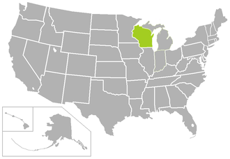 Wisconsin Intercollegiate Athletic Conference - Image: WIAC USA states