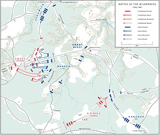 Battle of the Wilderness - Actions in the Wilderness, May 5, 1864 (Additional map)