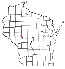 Location of Fairchild within Wisconsin