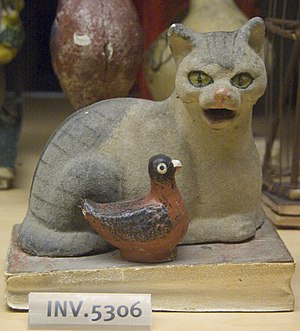 WLA nyhistorical Cat and bird squeaky toy late...