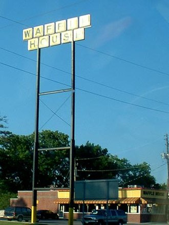 Waffle House - A Waffle House restaurant in Gadsden, Alabama