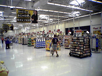 English: Walmart Supercenter front end in Hage...