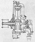 Walter Jupiter IV, skica, podélný řez motorem (1927).jpg