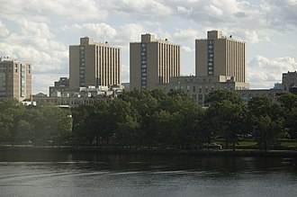 Warren Towers - Warren Towers rises over the Charles River.