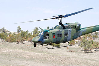 Francis E. Warren Air Force Base - A UH-1 Iroquois (Huey) helicopter used by 37th Helicopter Squadron of the 90th Operations Group.