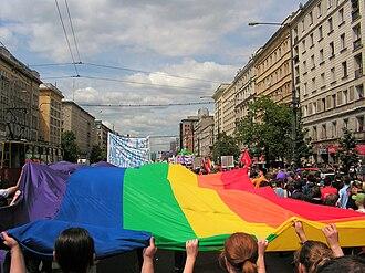 Pride parade - Warsaw Pride in 2006