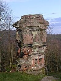 Rocher du temple de Mercure, Château de la Wasenbourg, France