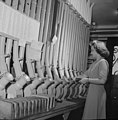 Washington, D.C. Miss Helen Ringwald works with the pneumatic tubes.jpg