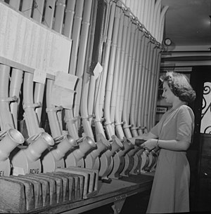 Pneumatic tube - A woman working with a pneumatic tube system in Washington, D.C.