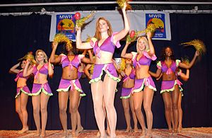 Armed Forces Entertainment - Armed Forces Entertainment arranged for the Washington Redskins Cheerleaders to perform for  U.S. servicemen onboard Naval Support Activity (NSA) Bahrain