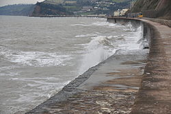 Waves breaking on the sea wall at Teignmouth (0164).jpg