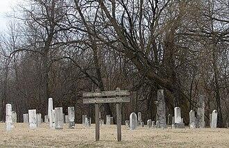Waynetown, Indiana - Image: Waynetown pioneer cemetery