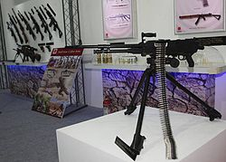 Weapons and equipment displayed by OFB at Defexpo 2016.jpg
