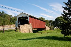 Weaver's Mill Covered Bridge Three Quarters View 3008px.jpg