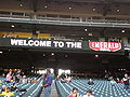 Welcome sign screen at 2008 Emerald Bowl.JPG