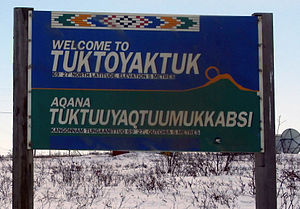 Welcome to Tuktoyaktuk. Cropped.
