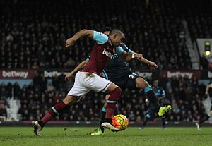 Dimitri Payet - Payet taking on compatriot Gaël Clichy of Manchester City in January 2016