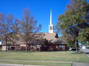 Ward (LDS Church) - A meetinghouse for a branch in West Memphis, AR