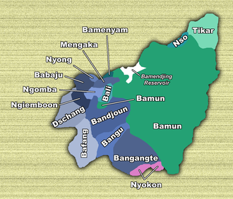 West Region (Cameroon) - Territories of West Province ethnic groups
