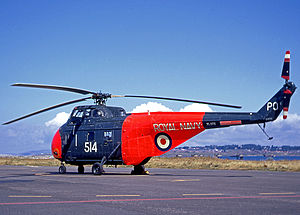771 Naval Air Squadron - 771 Squadron Westland Whirlwind HAS.7 SAR rescue helicopter at Portland in 1967.