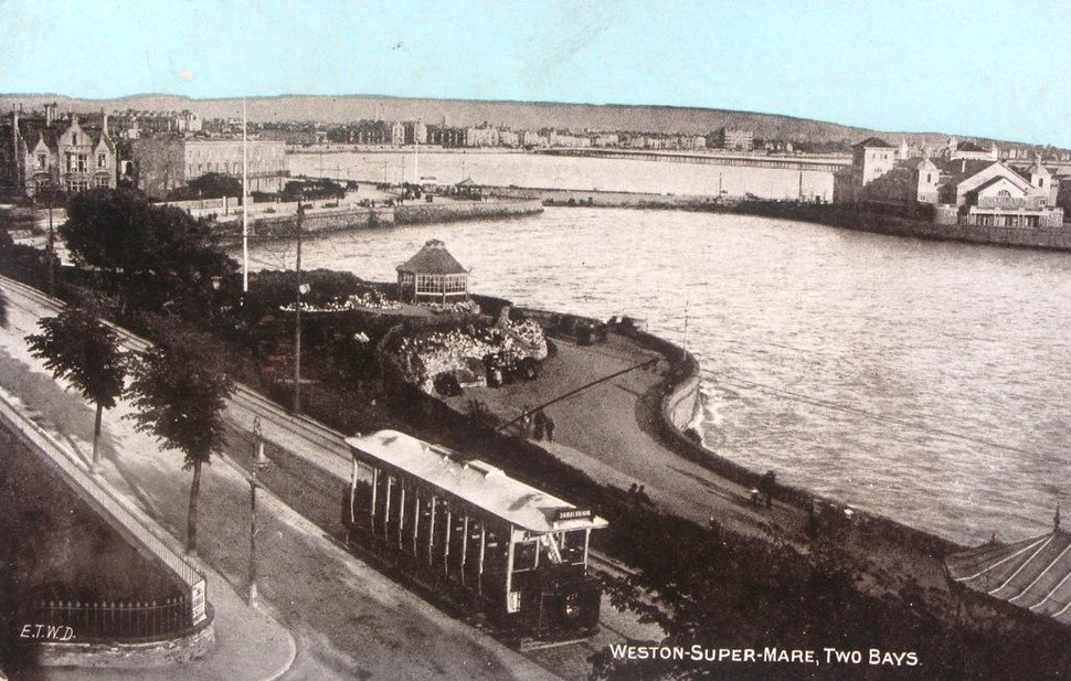 Weston-super-Mare Madeira Cove with tram