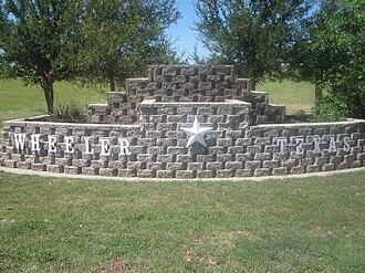 Wheeler, Texas - Wheeler welcome sign