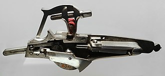 Handgun - A wheellock pistol mechanism from the 17th century
