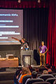Wicke & Sastry at Parsoid; Dealing with Wikitext so you don't have to session at Wikimania 2014 (2).jpg