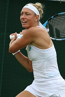 Yanina Wickmayer Belgian tennis player