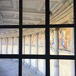 Wiki Loves Art --- Musée Royal de l'Armée et de l'Histoire Militaire ---Fresque vue de la montée vers la vue des Arcades 03.jpg