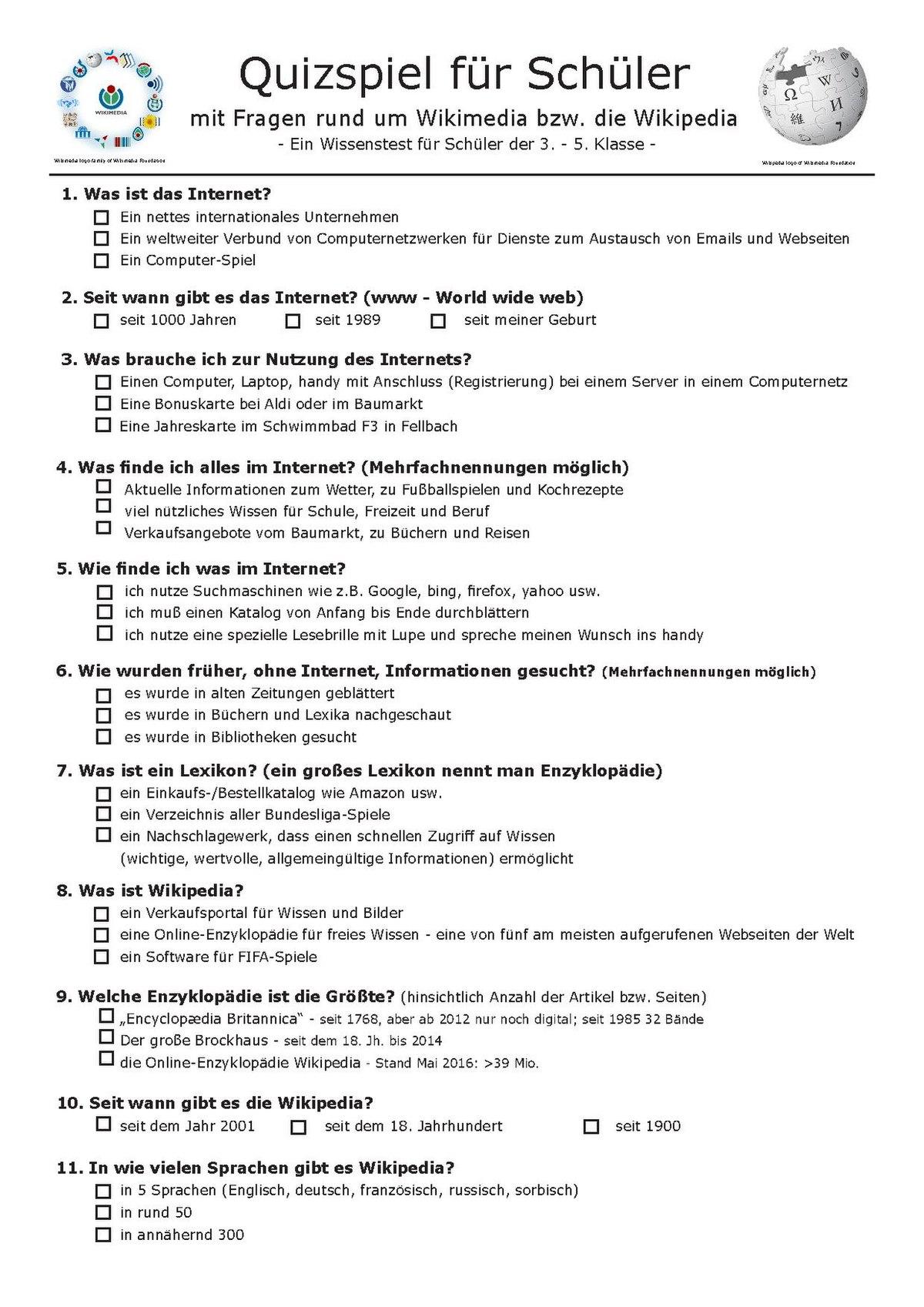 Quiz Fragen Und Antworten