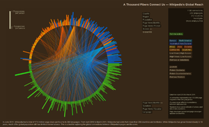 """Screenshot from """"A Thousand Fibers Connect Us — Wikipedia's Global Reach"""""""