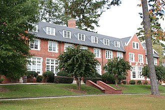 Darlington School - Wilcox Hall (formerly Old Main) is the main administrative building for Darlington School. It houses the Head of School's office, other Administrators, and Moser and Neville Boys' Houses.