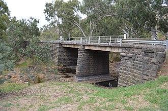 Wildwood, Victoria - The heritage-listed Wildwood Road Bridge over Deep Creek