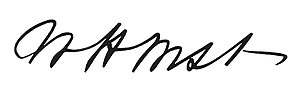 William H. West - Image: William H. West signature