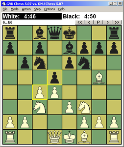GNU Chess 5.07 con interfaccia WinBoard 4.2.7