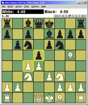 GNU Chess 5.07 on WinBoard 4.2.7