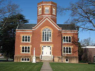 Winnie Davis Hall - Image: Winnie Davis Hall; Limestone College; Gaffney, South Carolina; February 3, 2008
