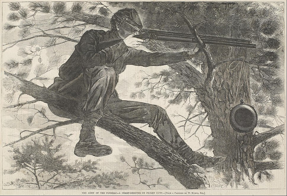 Winslow Homer - The Army of the Potomac--A Sharp-Shooter on Picket Duty - Google Art Project