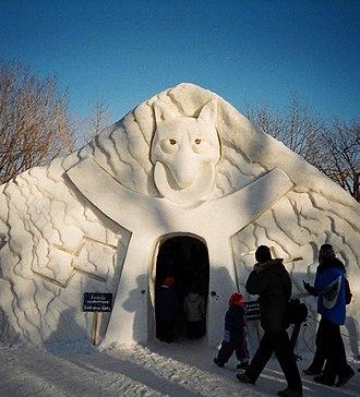 Winterlude - Image: Winterlude ice sculpture museum