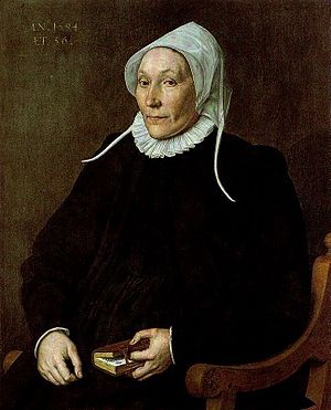 Cornelis Ketel - Woman Aged 56 in 1594