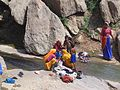 Women using Stream water from 'Dhosi Hill' Sarovar.JPG