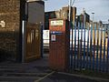 Woolwich Arsenal stn south entrance.JPG