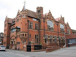 Heart of Worcestershire College - The Victoria Institute, home of the College from 1894 to 1962, photographed in 2009