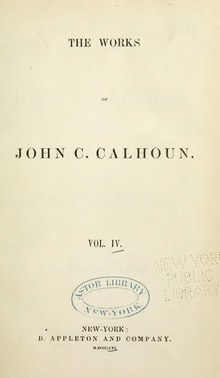 Works of John C. Calhoun, v4.djvu