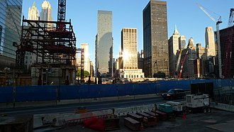 Construction of One World Trade Center - One World Trade Center Site on July 12, 2009.