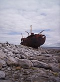 Wreck of the Plassey (Father Ted ship), Inis Oirr, Ireland.jpg