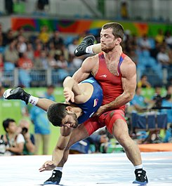Wrestling at the 2016 Summer Olympics, Bayramov vs Rodríguez 12.jpg