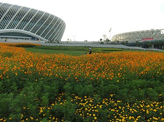 Optics Valley International Tennis Center - Image: Wuhan SE DSCF1121 Olympics Sports Center